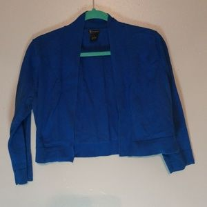 Royal Blue New Direction brand shrug size large